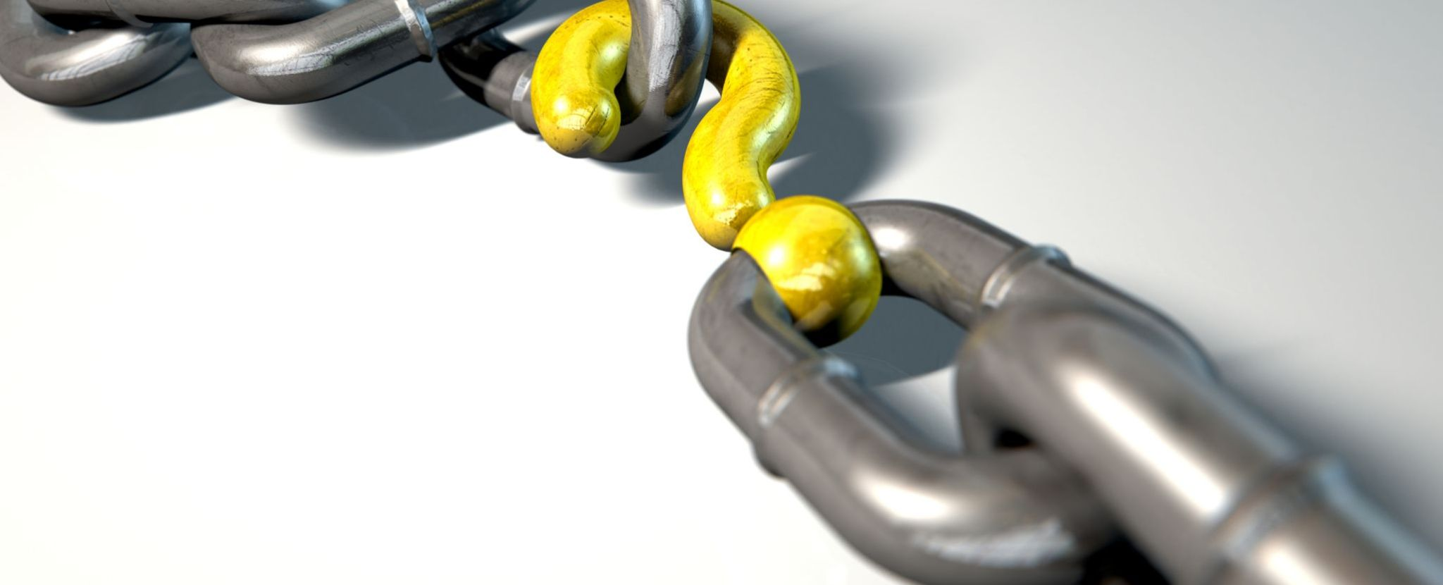 chain with question mark as one of its links